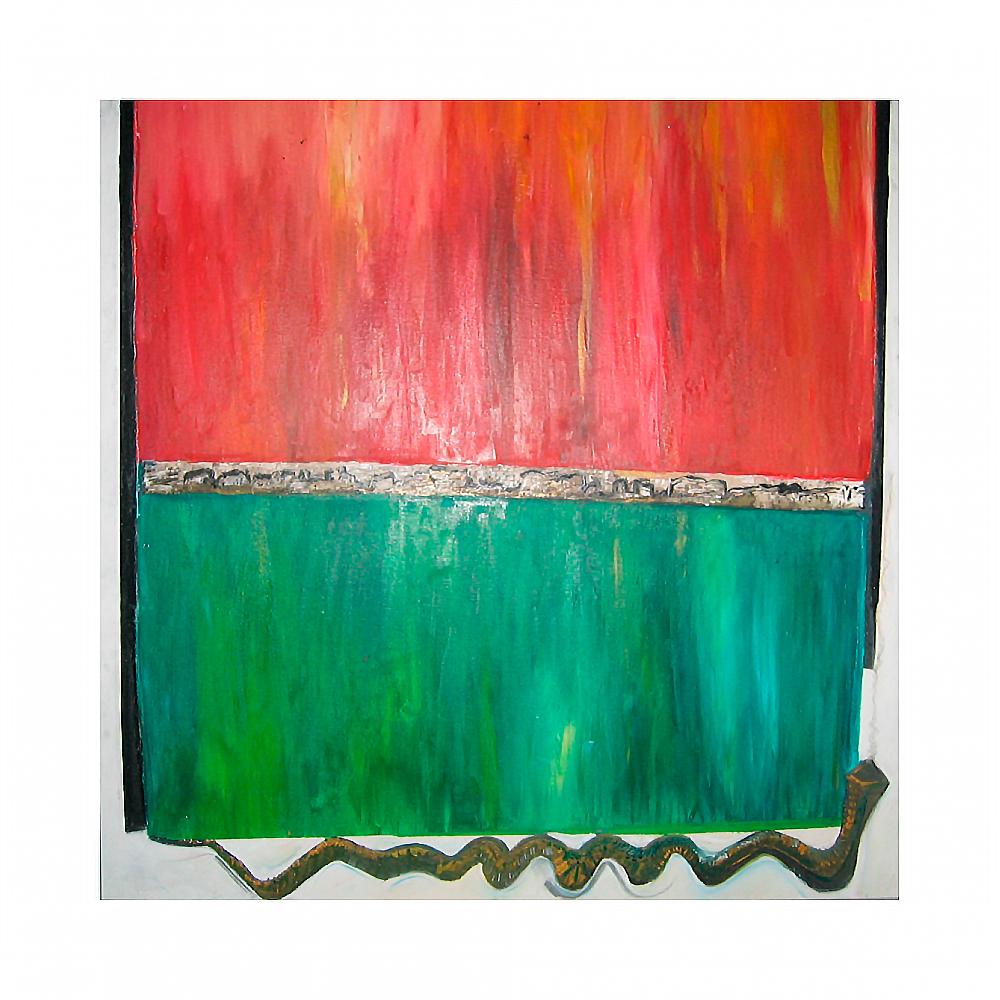 "Abstrakt ""Australien"", Werk-Nr. 057, Florence Solvay"