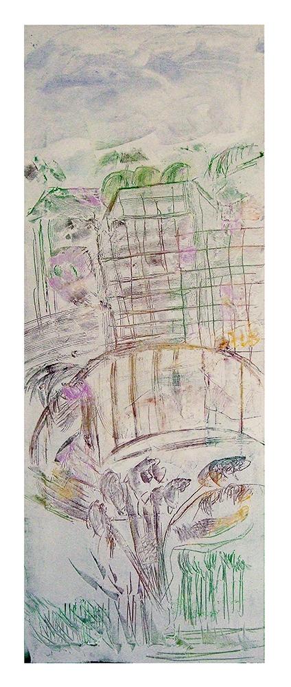 "Sgraffiti ""Frühling in Paris"", Werk-Nr. 029, Florence Solvay"