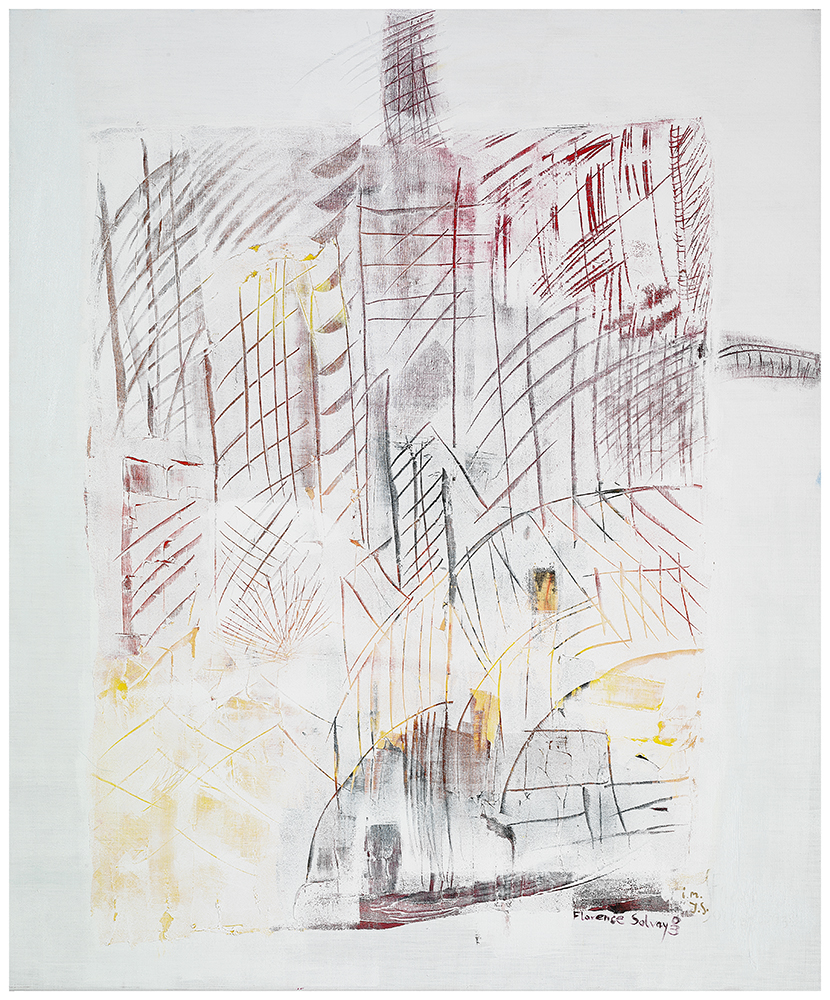 "Sgraffiti ""Herbst in der Stadt"", Werk-Nr. 115, Florence Solvay"