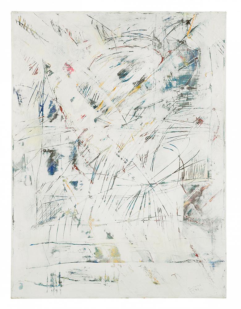 """Abstrakt """"Drei Winter II"""", Werk-Nr. 063, Florence Solvay"""