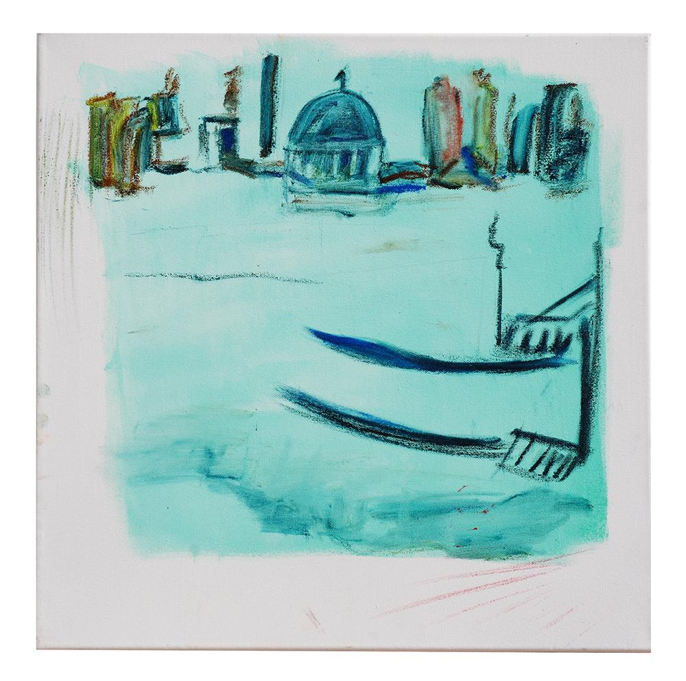 "Öl auf Leinwand ""Venedig St. Ma. della Salute"", Werk-Nr. 032, Florence Solvay"