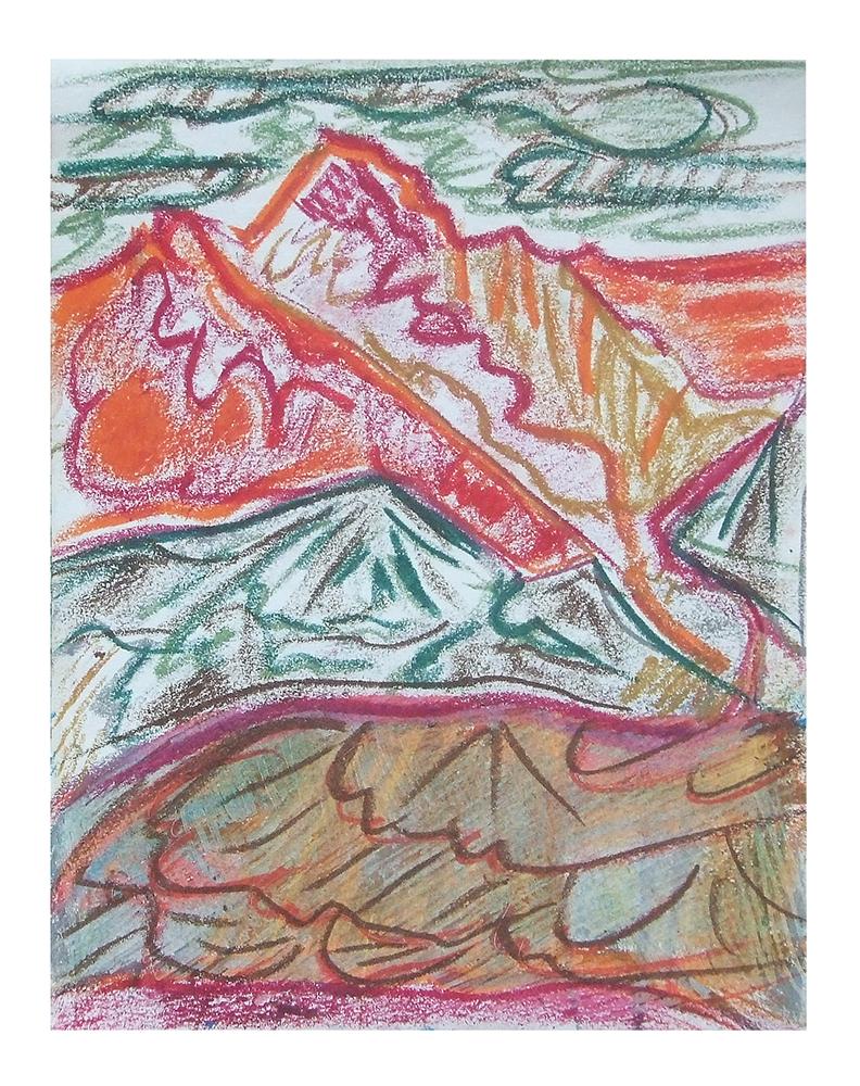 "Öl auf Leinwand ""Berge I"", Werk-Nr. 093, Florence Solvay"