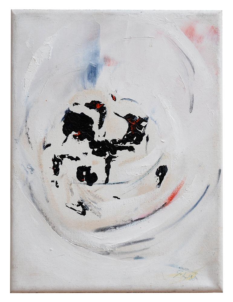 "Abstrakt ""Kreuzvariation IV"", Werk-Nr. 004, Florence Solvay"