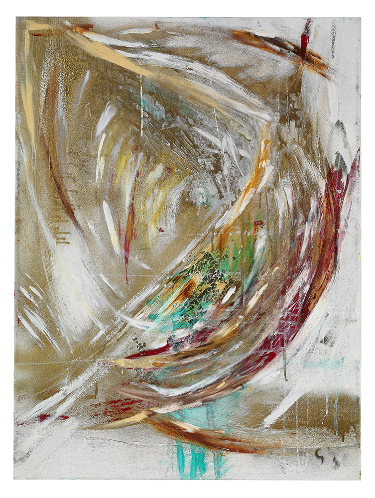 "Öl auf Leinwand ""Gold"", Werk-Nr. 060, Florence Solvay"