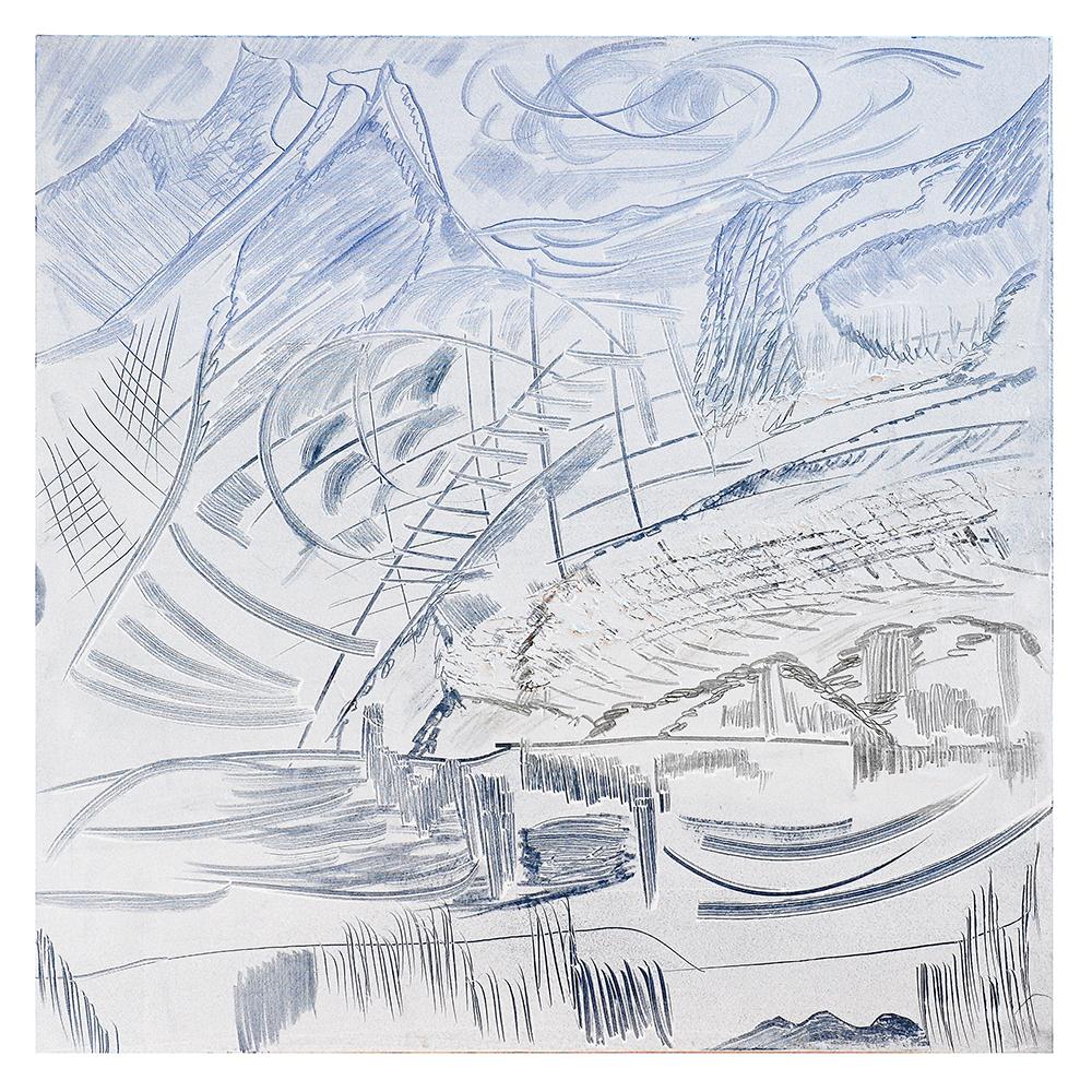 """Sgraffiti """"Wetterhorn II"""", Werk-Nr. 013, Florence Solvay"""