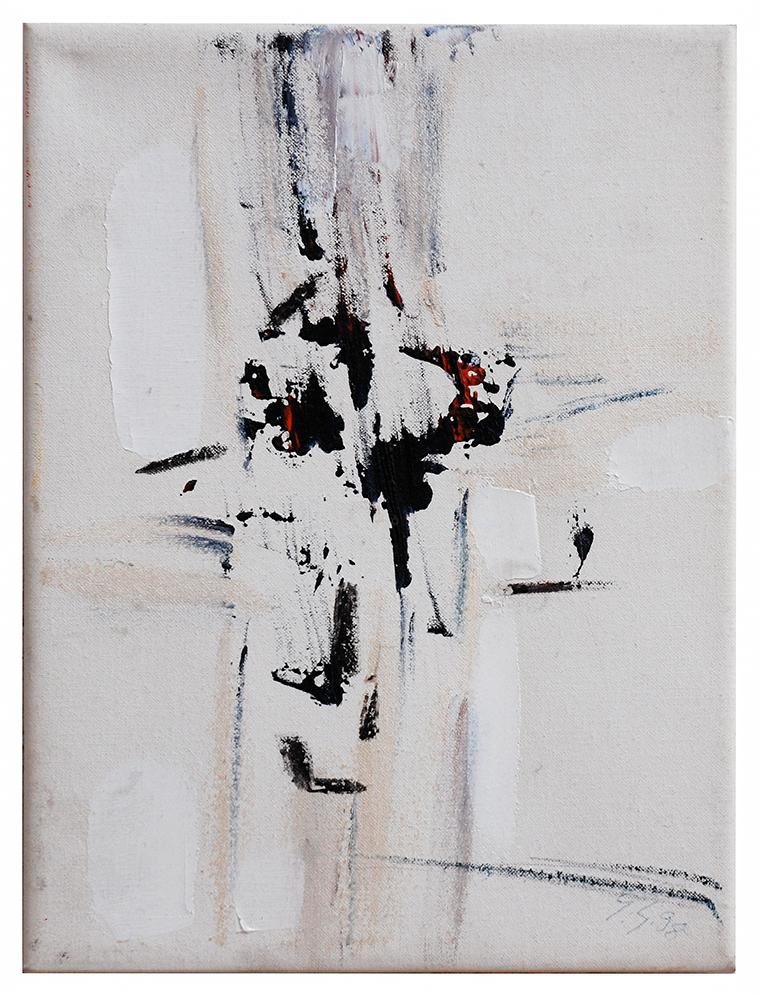 "Abstrakt ""Kreuzvariation III"", Werk-Nr. 003, Florence Solvay"