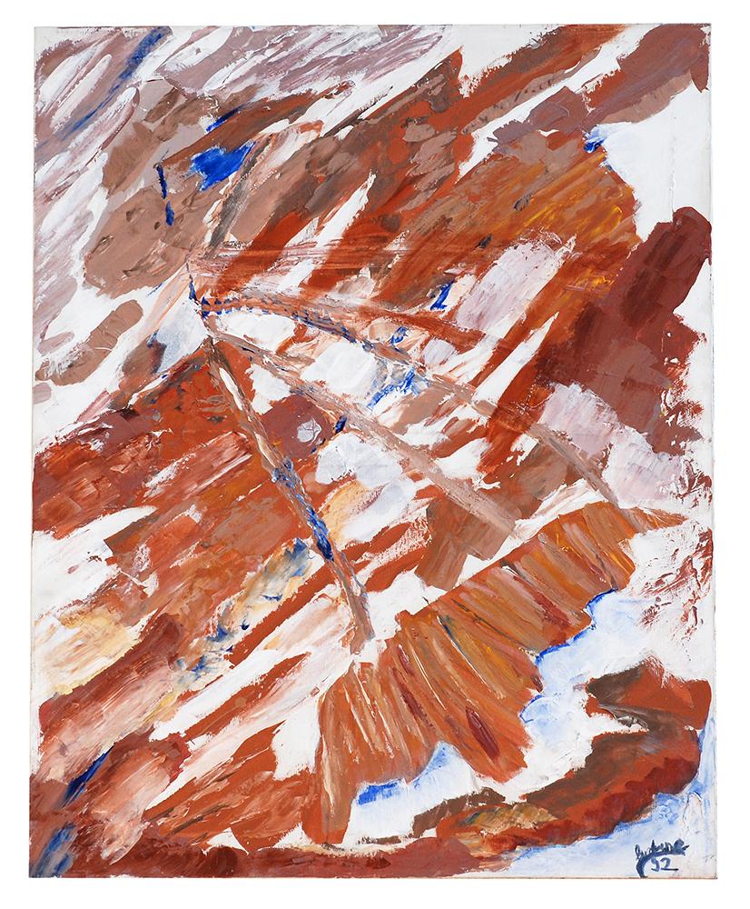 "Abstrakt ""Flug über die Sahara"", Werk-Nr. 014, Florence Solvay"