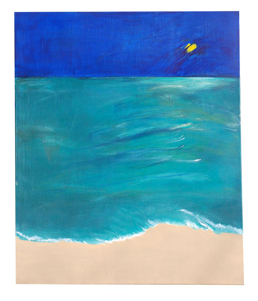 "Öl auf Leinwand ""Ningaloo Reef bei Nacht"", Werk-Nr. 085, Florence Solvay"