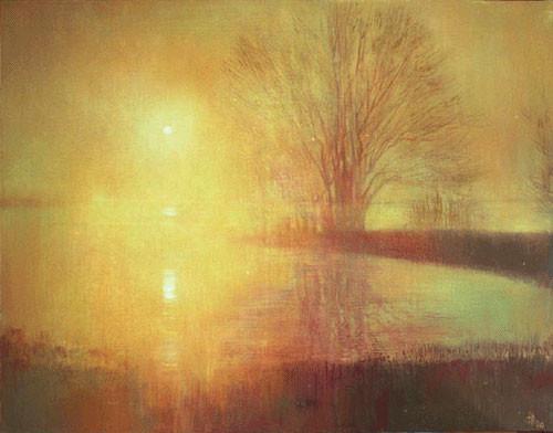 Надежда Анфалова — «Золотой закат». Холст, темпера, 80*100 см, 2006.