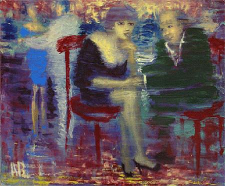 Агабалаев — «Беседа», 2006; xолст, масло; 80х100 см