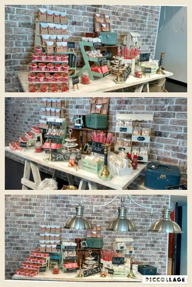 Mesa de dulces elegante