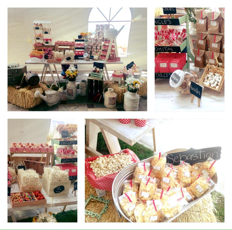 Mesa de dulces granja