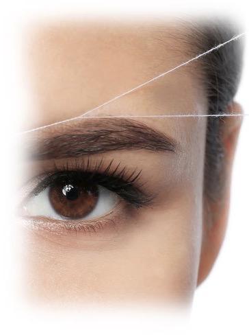 Entfernung der Haare mit Faden