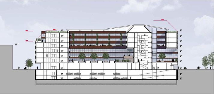 Büro- und Technikgebäude LX.2.2 der ÖBB, A-Wien, Gutachterverfahren 2012
