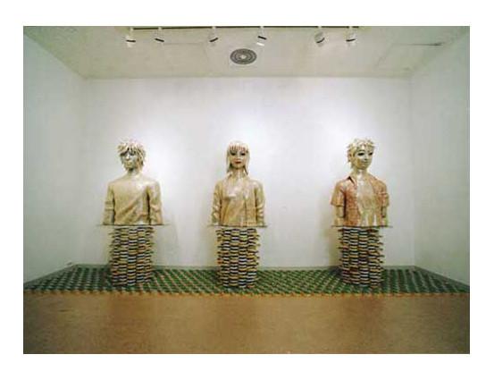 2001年 Gallery Q 個展 「瀬畑 亮=セロハンテープアート展」 会場風景