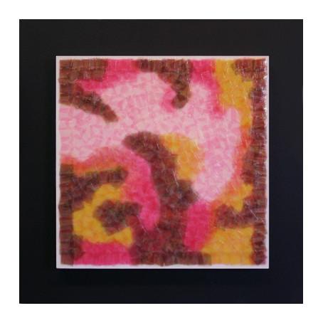 セロハン画™『Tape-layer Works.6』/ 2009年制作 / 25×25cm /特注カラーセロテープ