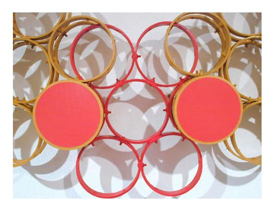 Makishin-works.1  / 2002年制作 / サイズ自由変形(可動式)/ 作品に使用したセロハンテープの芯