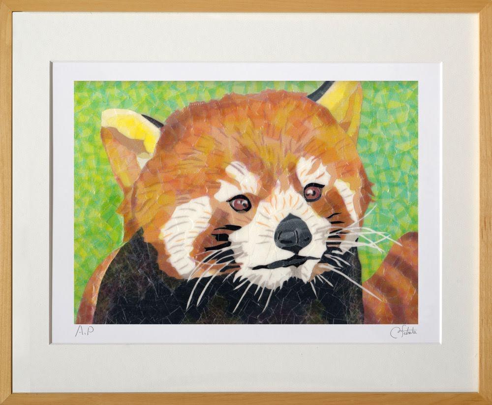 セロ版画™️「レッサーパンダ」