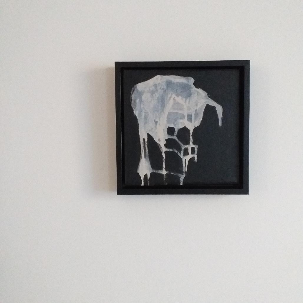 20x20cm acryl op canvas 2020'Emptying form III'