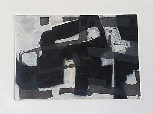 Ets, aquatint, chine collé, digitale print 10 x 14,5 cm 2017