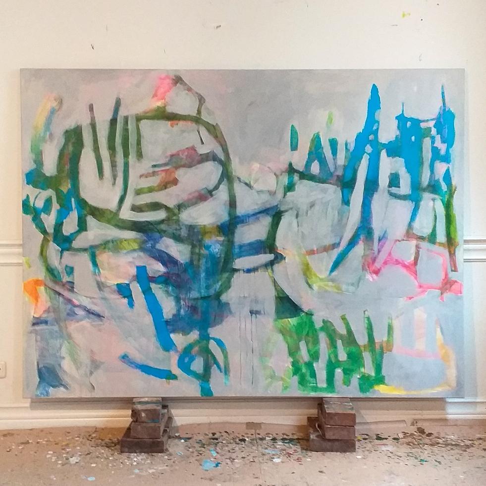 150 x 200 cm acrylic on canvas 2021 'Lightness of being.