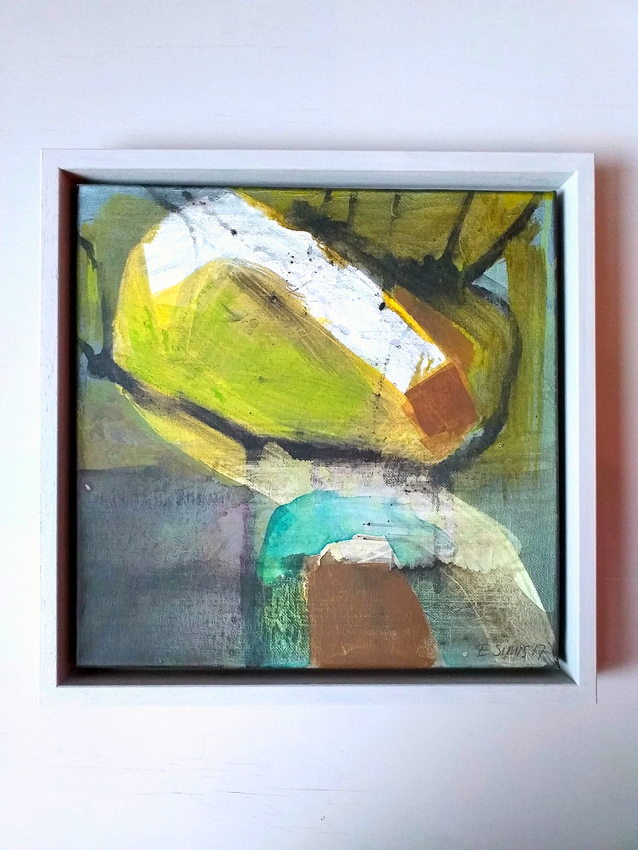 Acryl, houtskool en ecoline op canvas 25x25 cm 2017