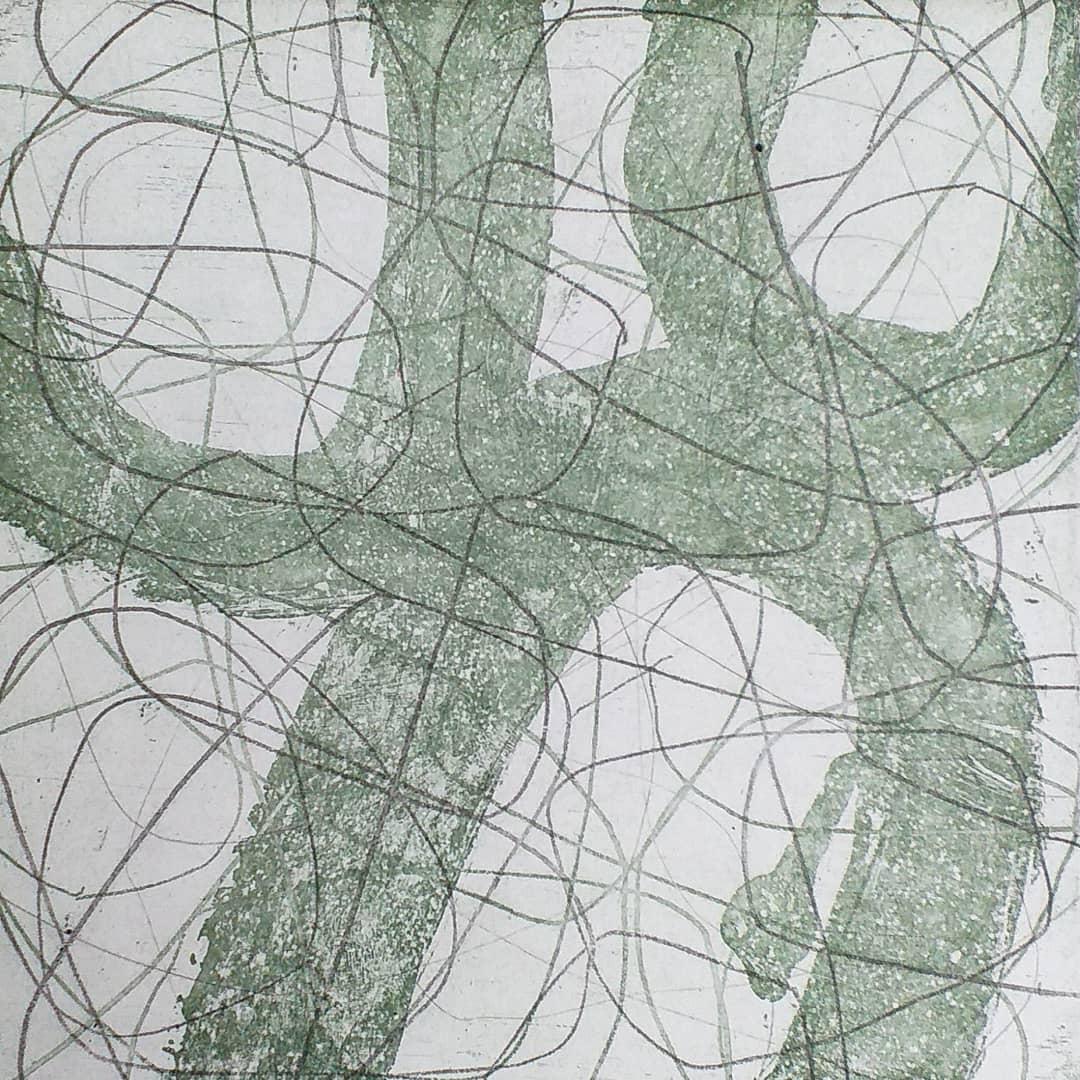 Ets, aquatint, vernis mou 17x17cm 2020  via The Auction Collective  oplage van 10