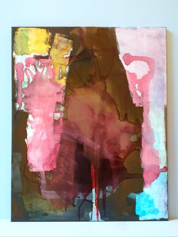 Acryl, ecoline op canvas 100x80 cm 2020 'Downturn'