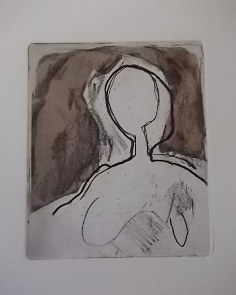 Ets, aquatint, vernis mou, droge naald 10,5 x 13 cm 2015