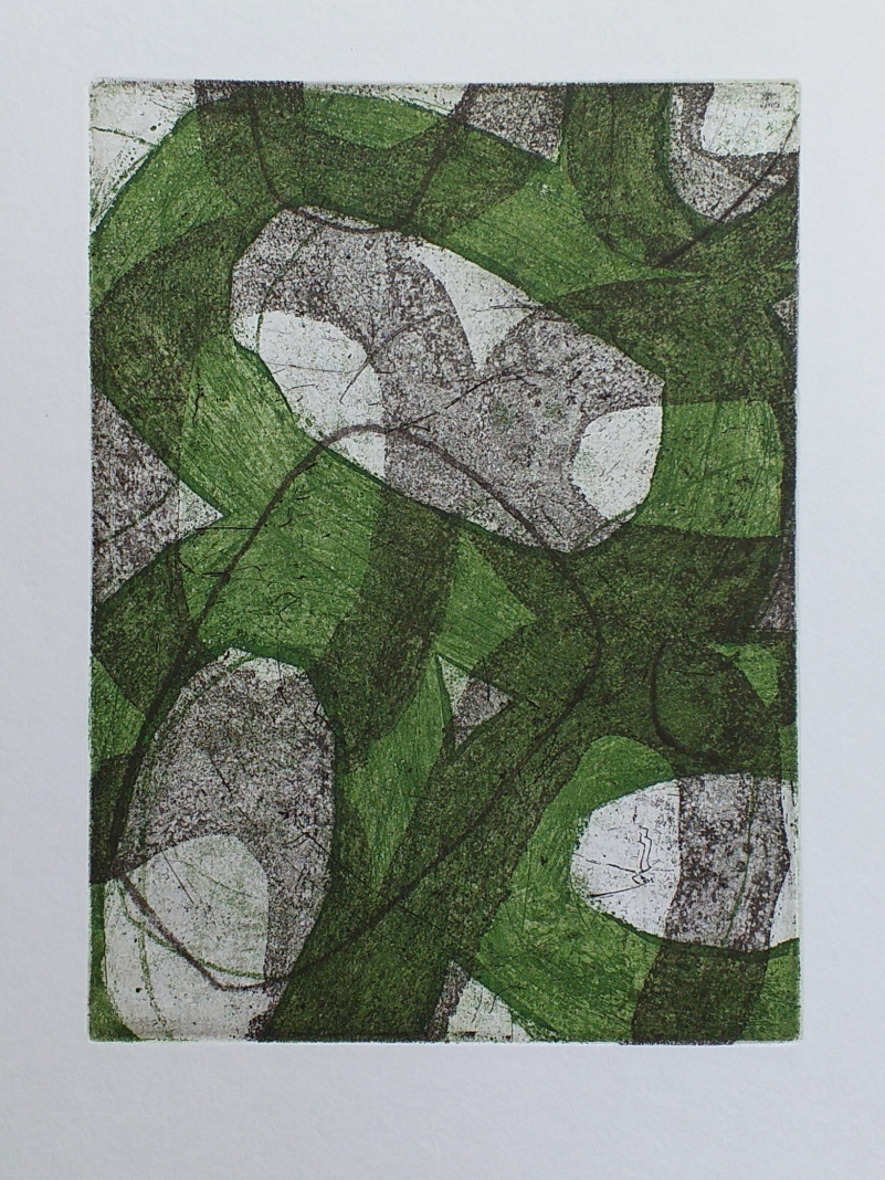 Ets, aquatint, vernis mou, droge naald 20x15cm 2020 via The Auction Collective oplage van 10