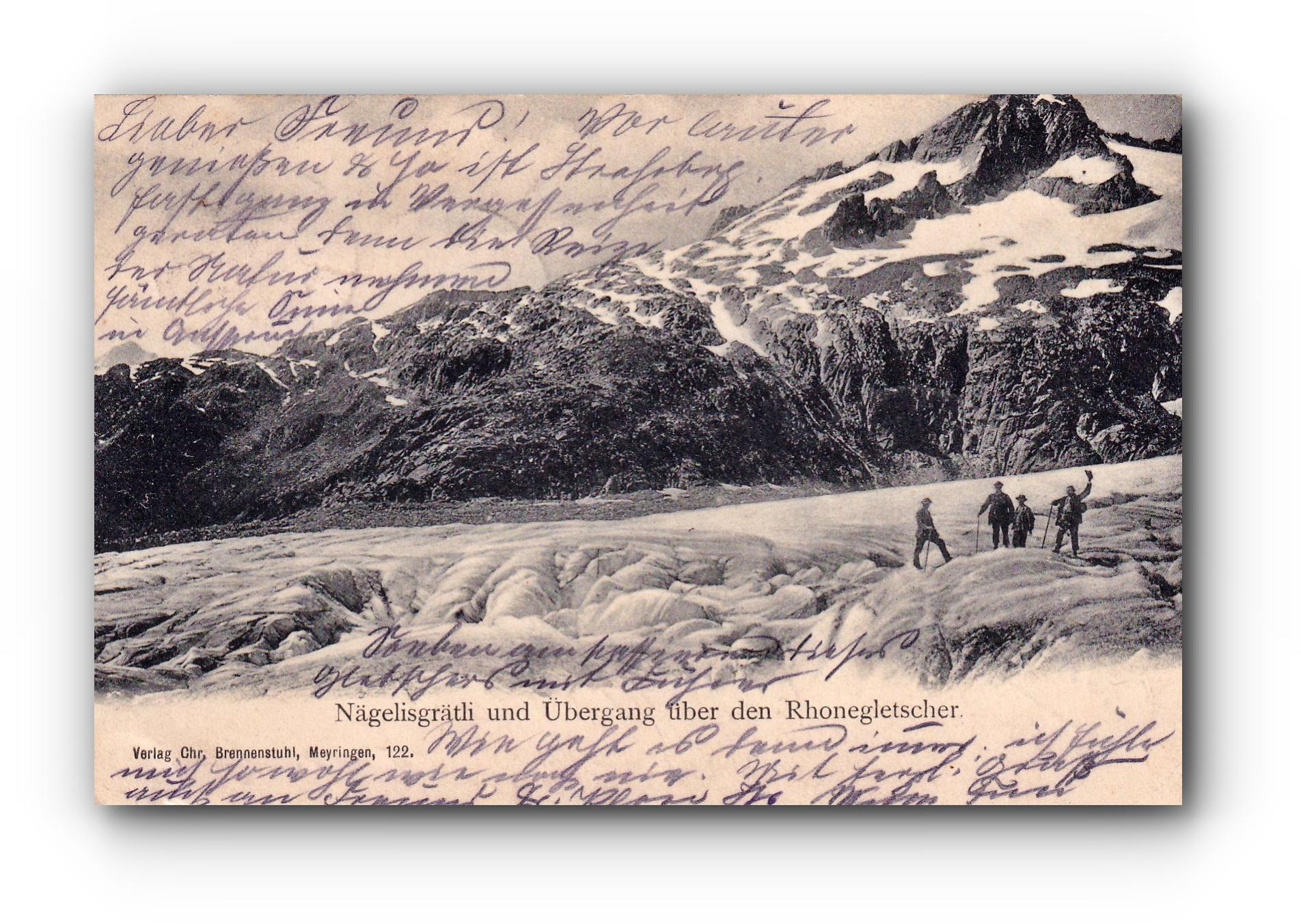 Näglisgrätli und Übergang über den Rhonegletscher - 03.08.1905 - Näglisgrätli et traversée du glacier du Rhône - Näglisgrätli and crossing over the Rhone Glacier