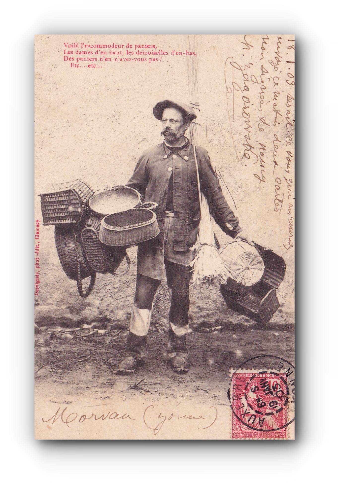 L'accommodeur de paniers - 19.01.1903 - Der Stuhlflechter -  The chair weaver