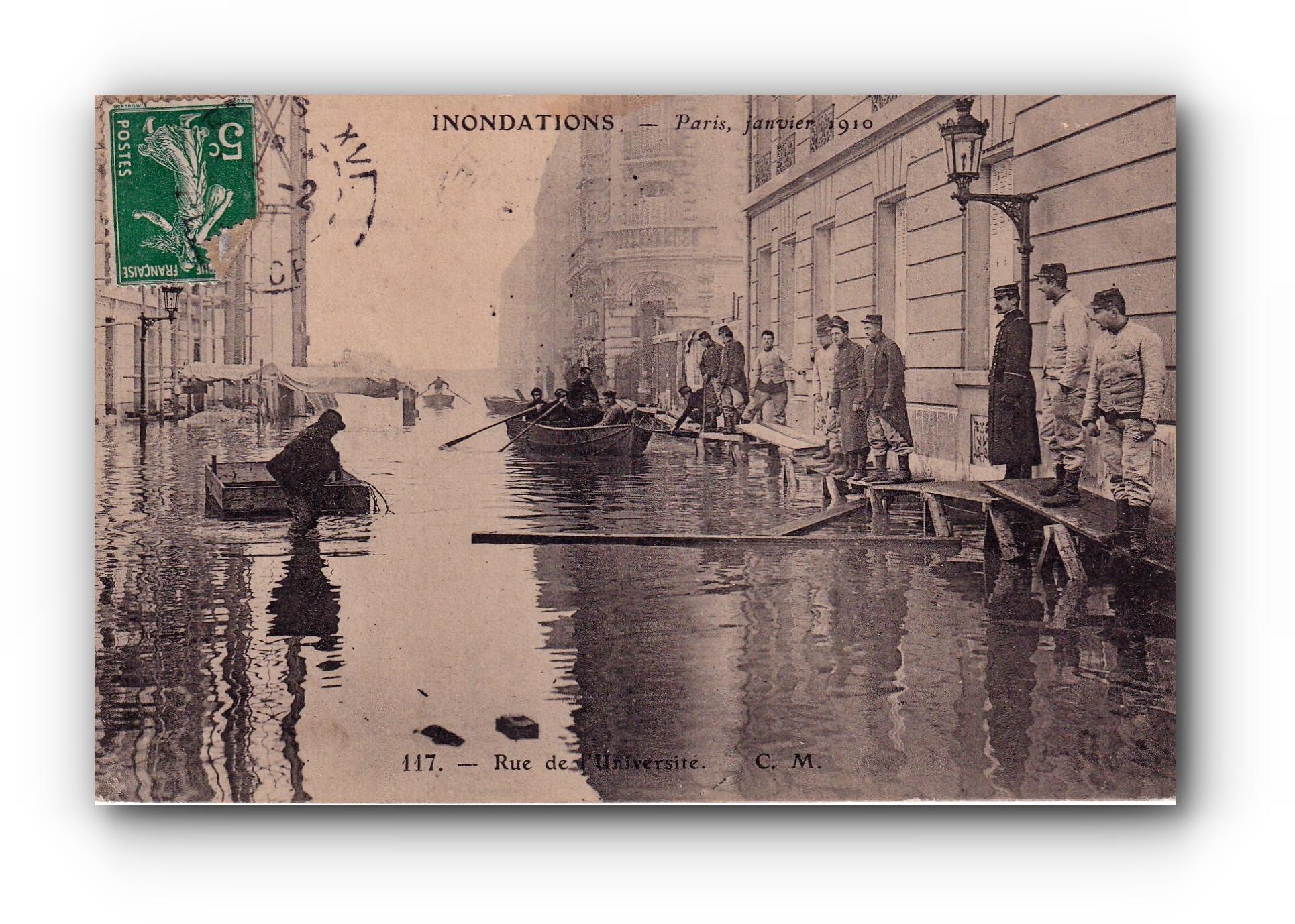 Inondations - PARIS - 15.02.1910 - Überschwemmung in Paris - Flood in Paris