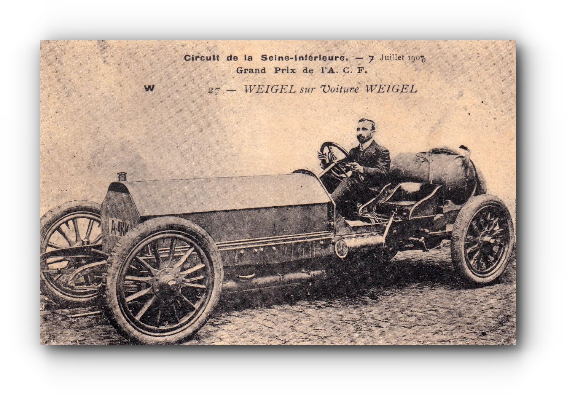WEIGEL in einem Weigel Auto - 1908 - Weigel sur voiture Weigel - WEIGEL on Weigel car