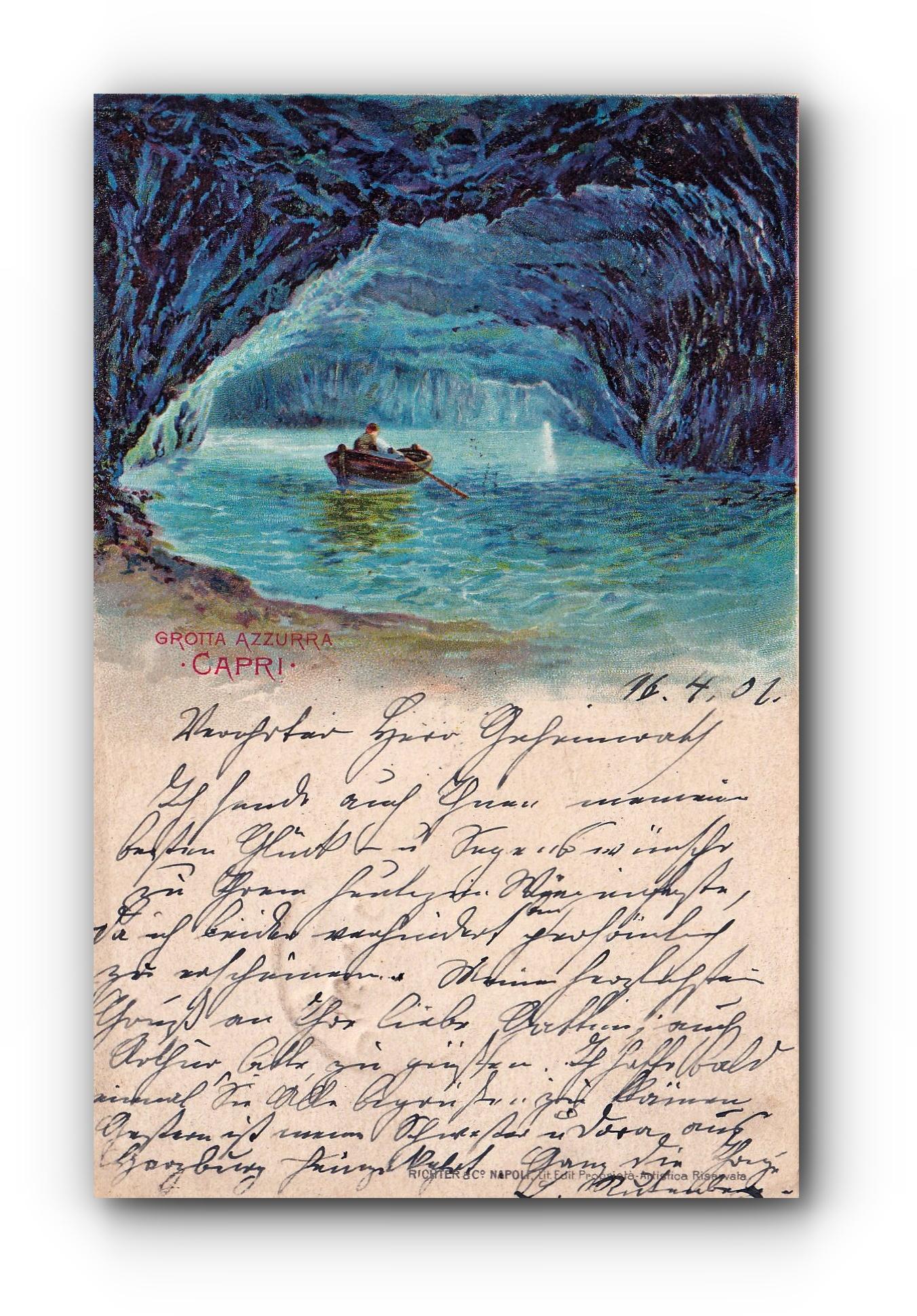 CAPRI - 16.04.1901 - Die Blaue Grotte - La Grotte bleue - The Blue Grotto