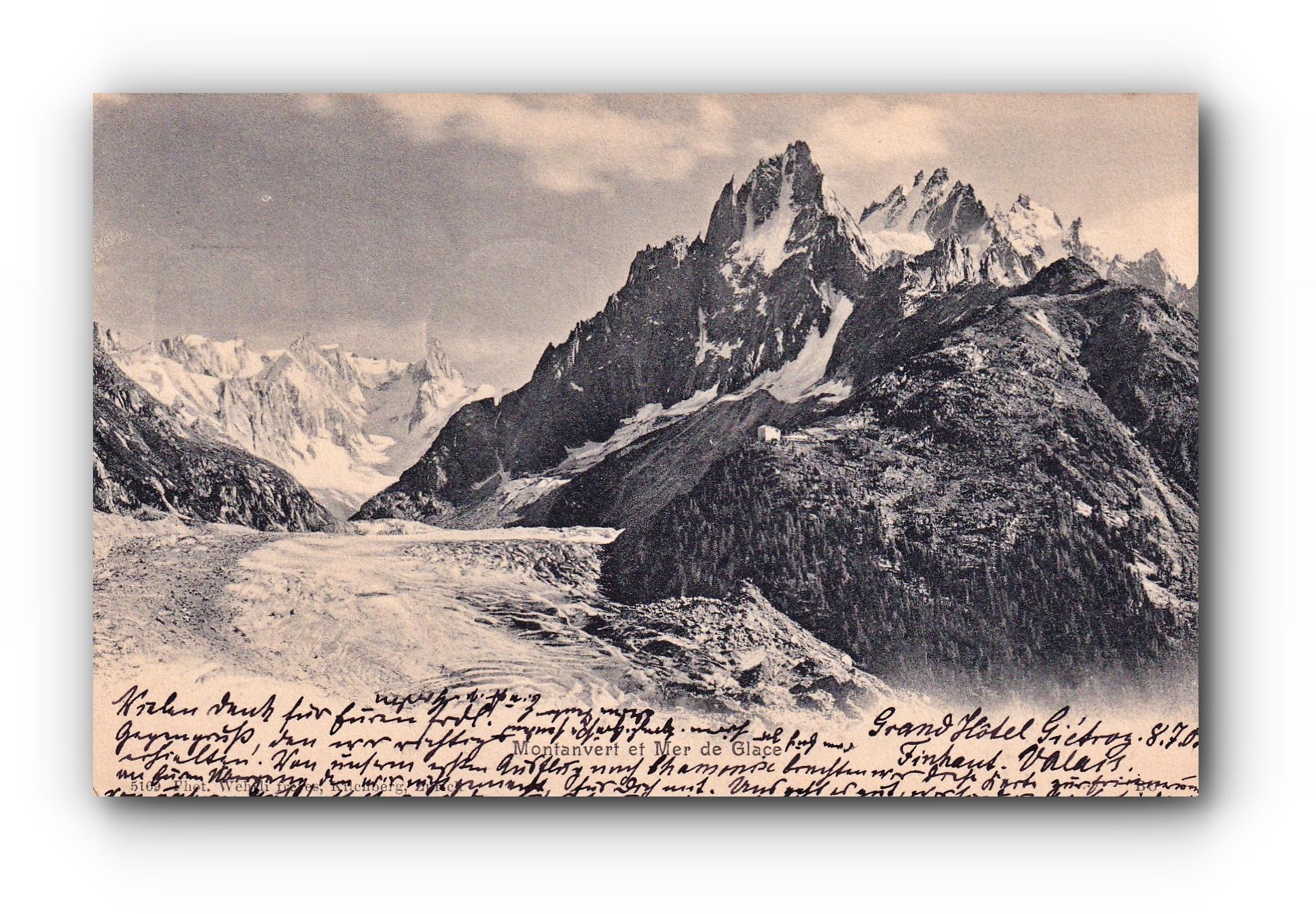 Montanvert et mer de glace - 08.07.1905