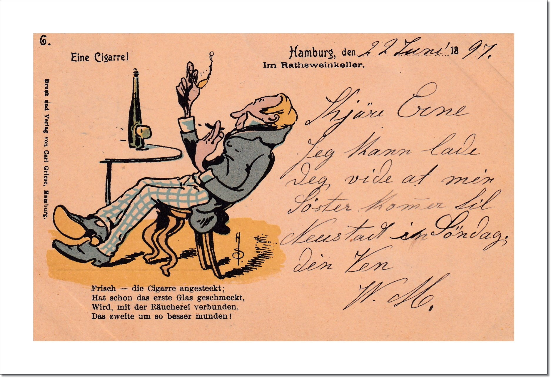 Eine Cigarre - 23.06.1897 - Un Un cigare - A cigar