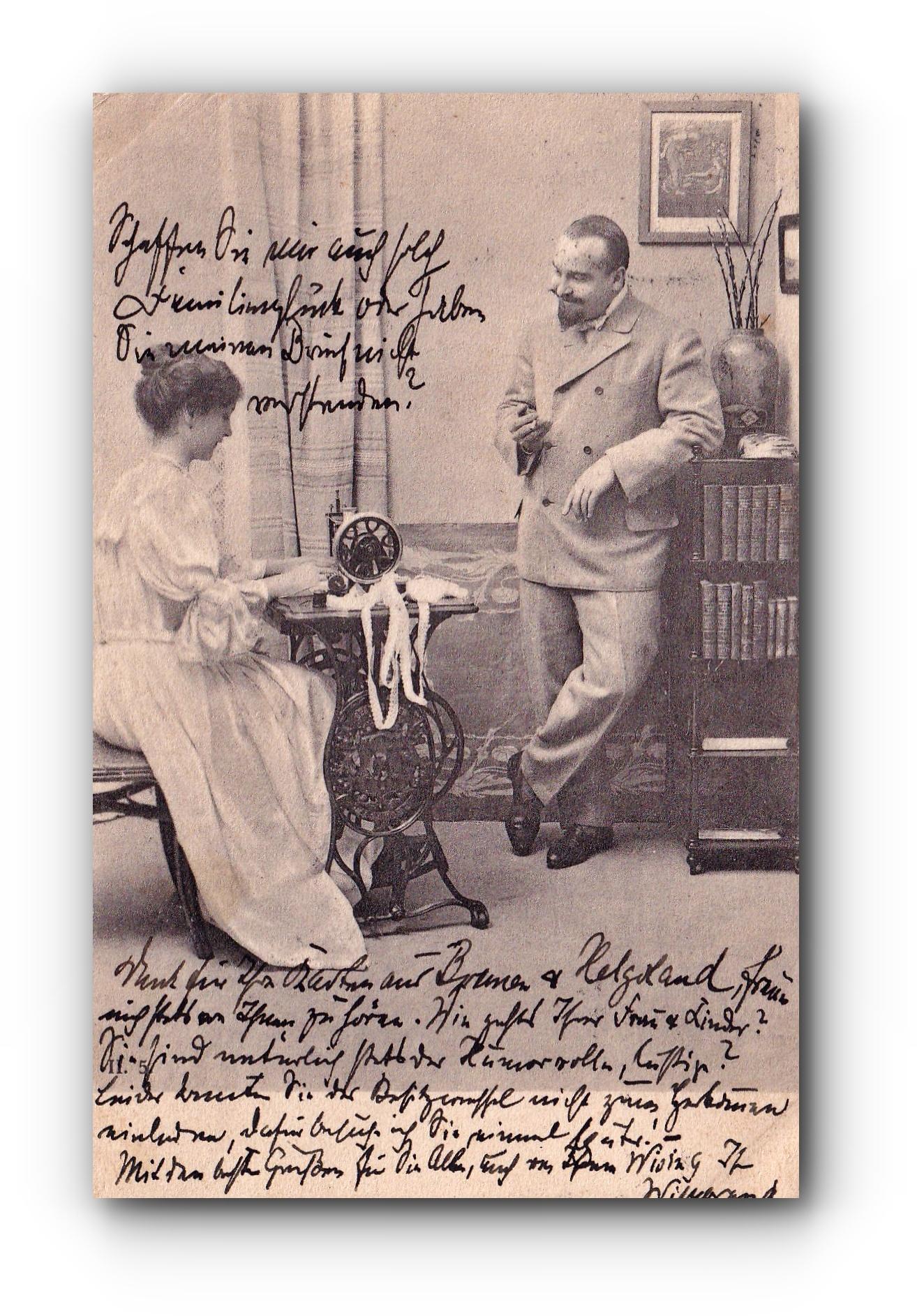 Die Näherin - 08.08.1908 - La couturière - The seamstress