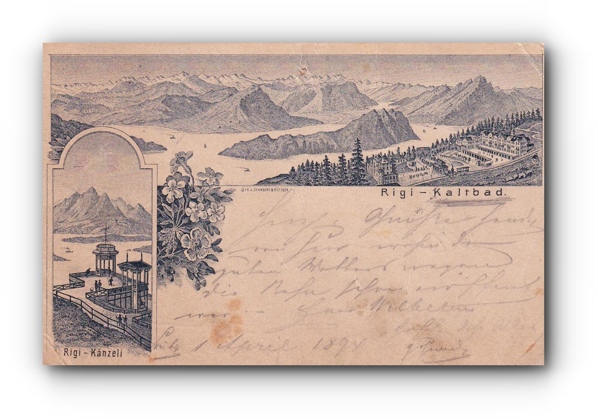 RIGI Kaltbad - 01.04.1894 -
