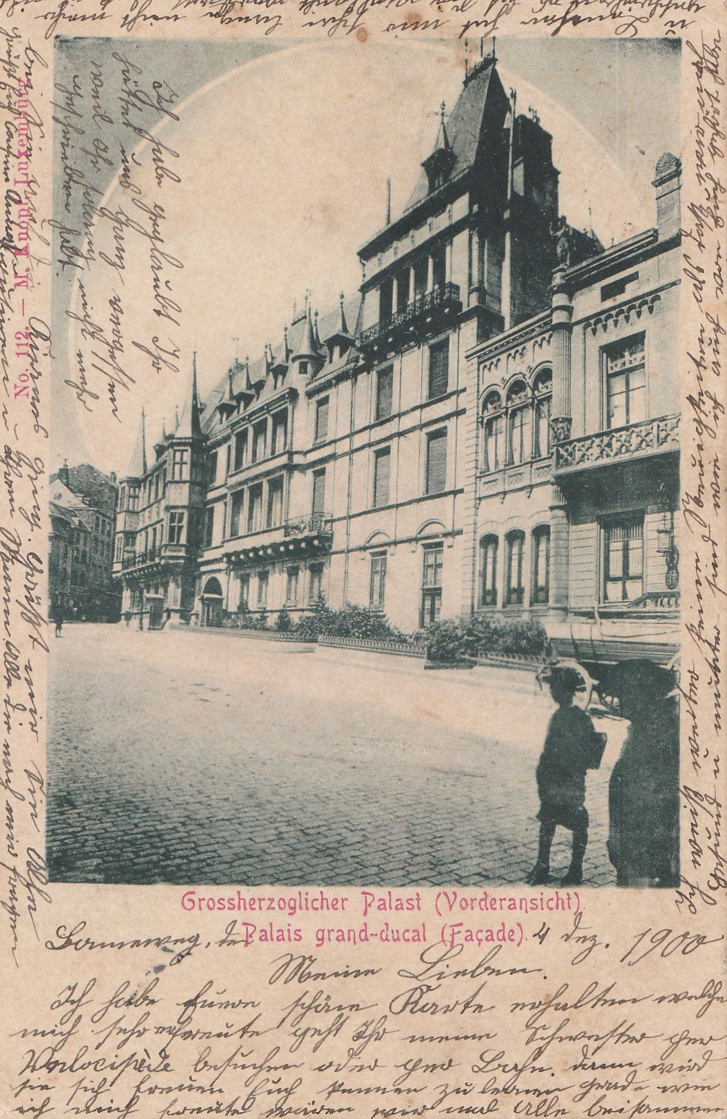Der Großherzogliche Palast - Le palais Grand - Ducal - The Grand Ducal Palace - 05.12.1900