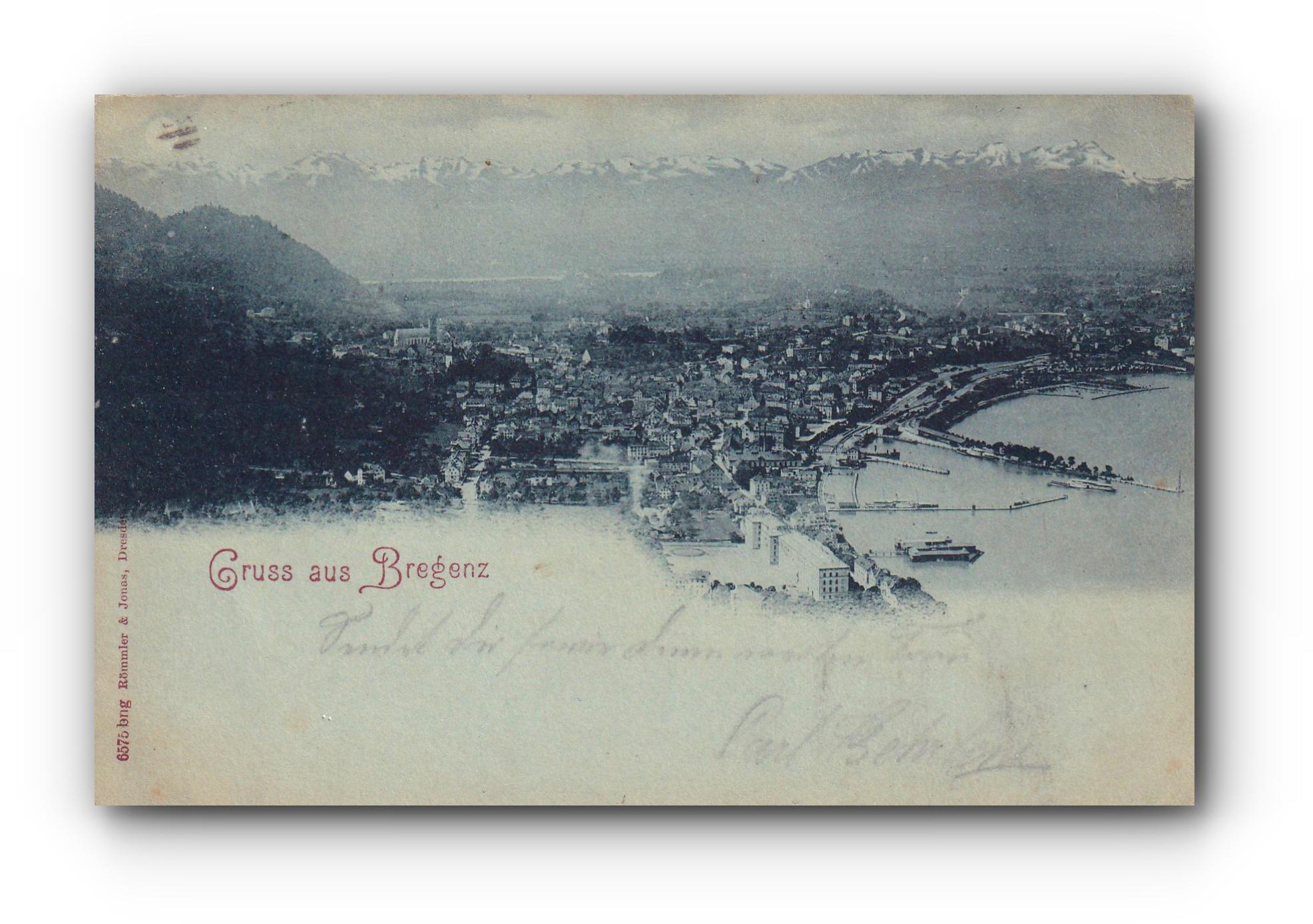 Gruss aus BREGENZ - 23.11.1897 - Salutations depuis Brégence - Greetings from Bregenz
