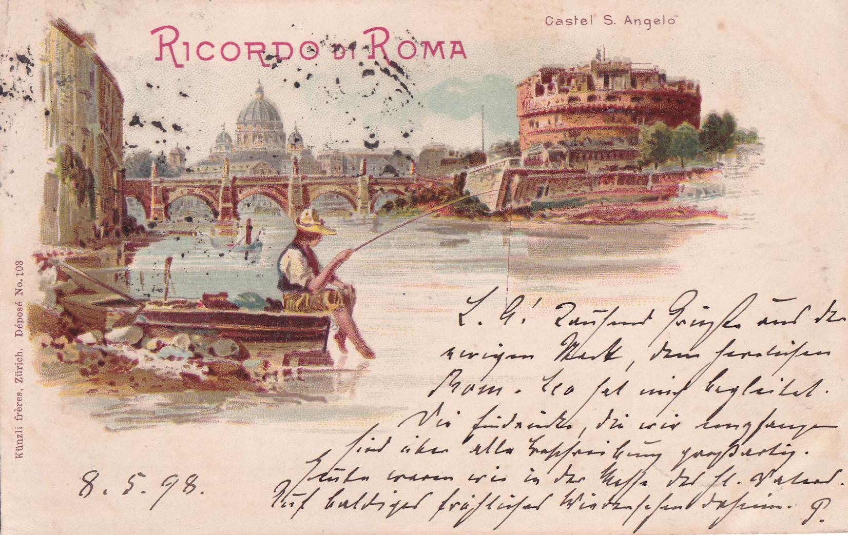 ROMA - 08.05.1898 - Erinnerung an Rom - Souvenir de Rome - Memory of Rome