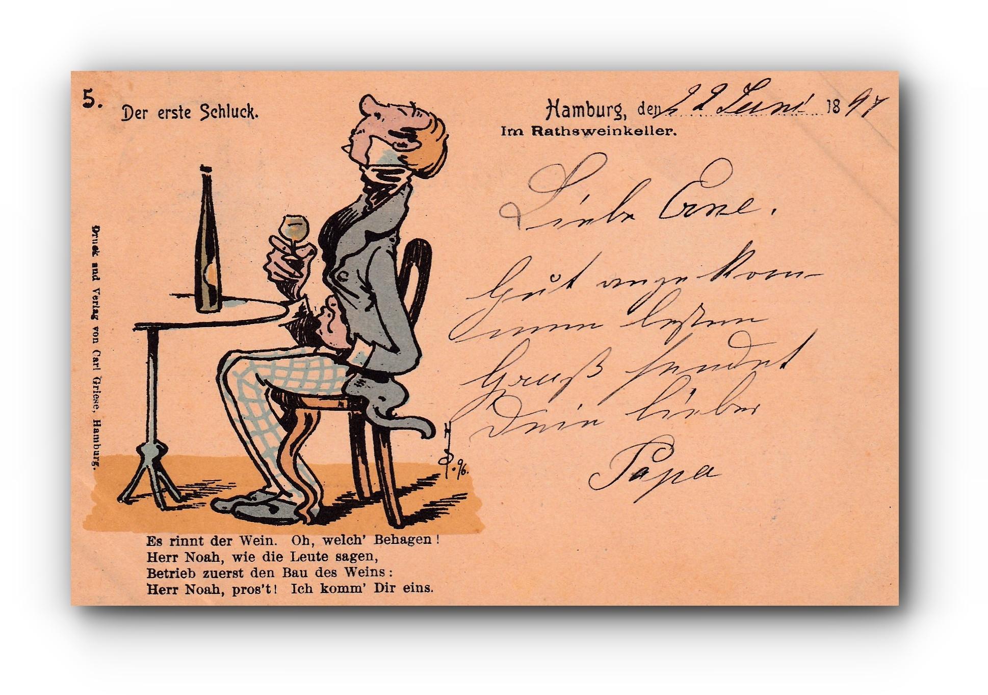 Der erste Schluck - 22.06.1897 - La première gorgée - Tha first sip