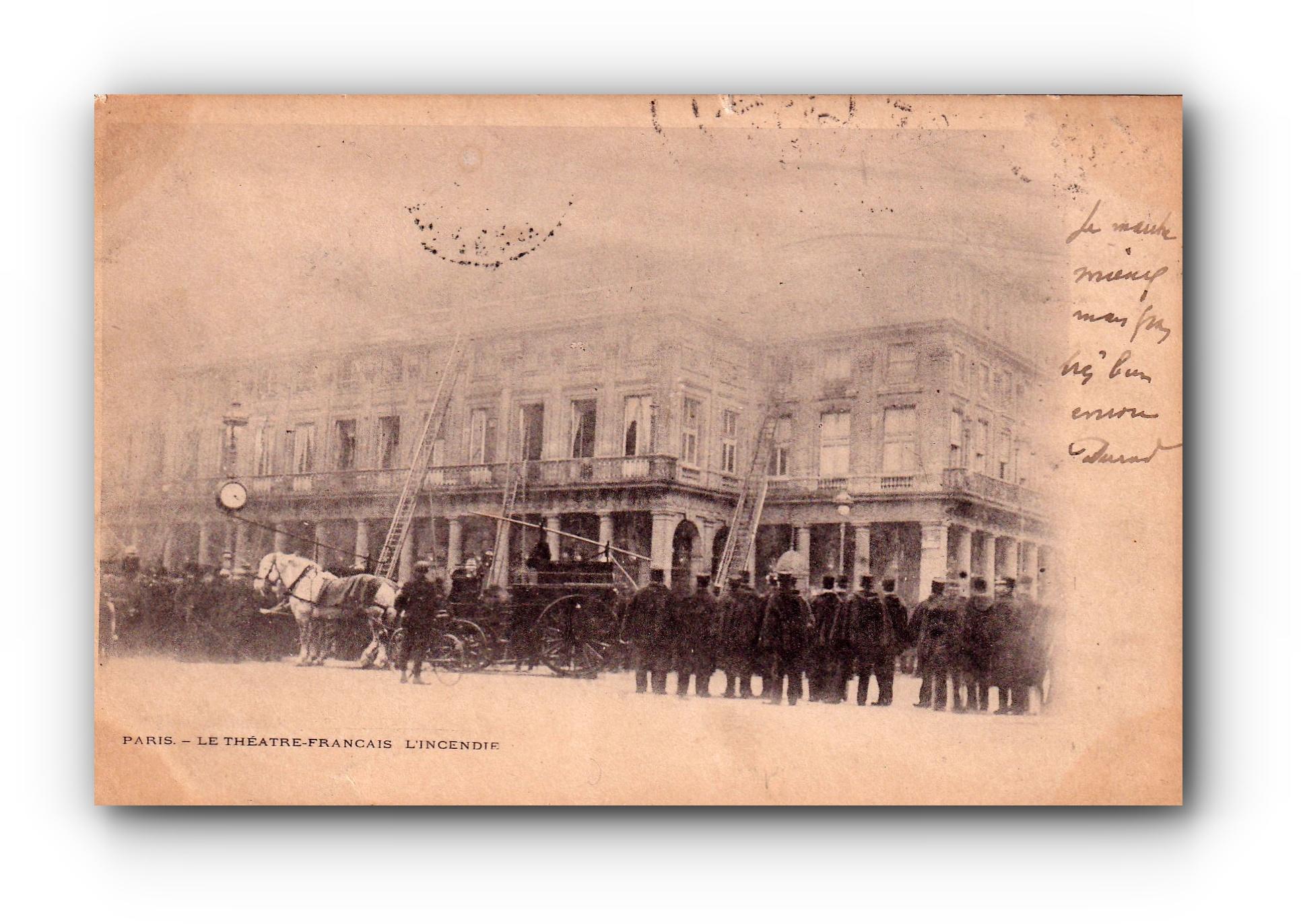 L'incendie du théatre - 08.04.1900 - Brandkatastrophe im Theater - Fire disaster in the theatre