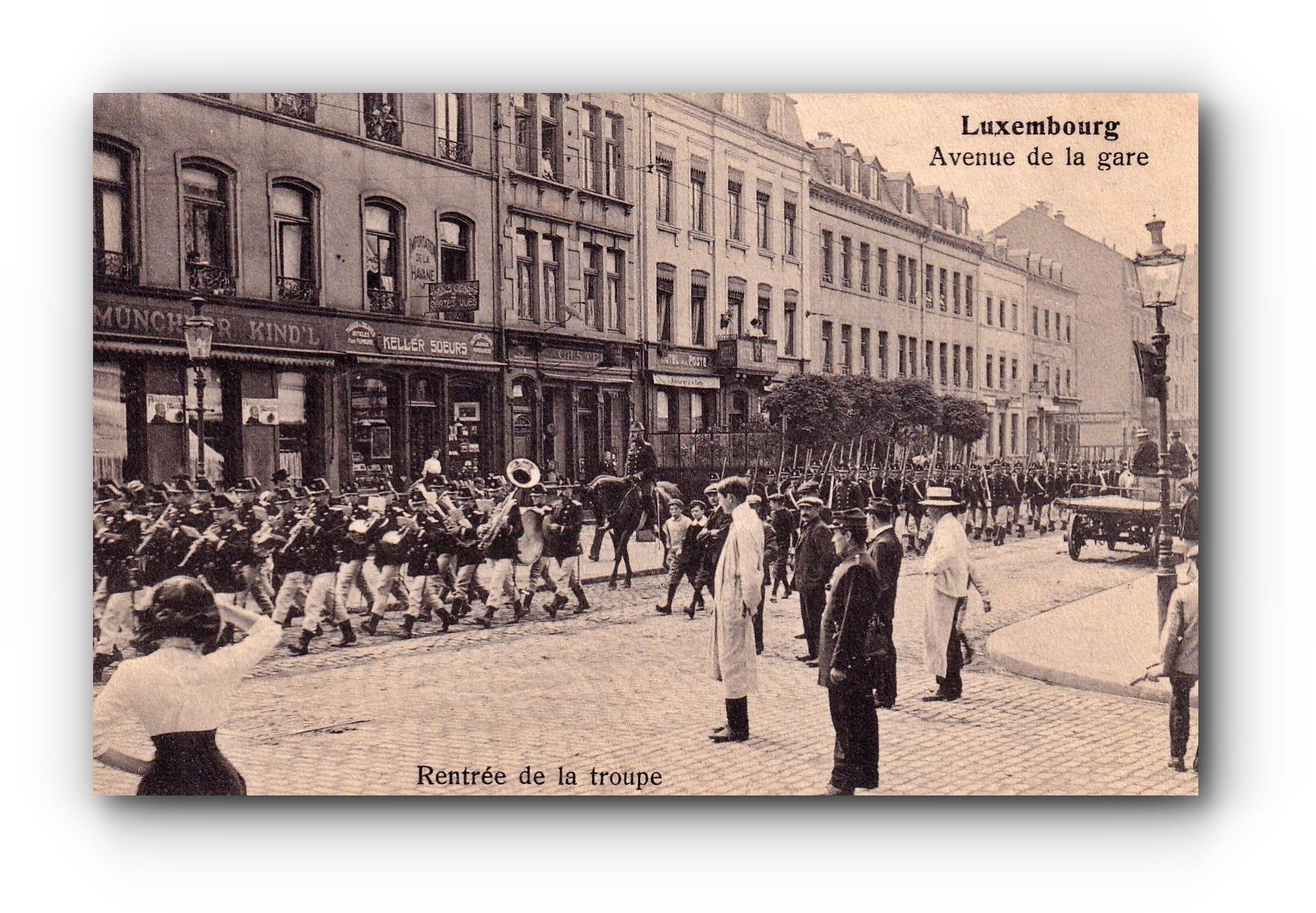 LUXEMBOURG - Rentrée de la troupe -  12.10.1911 - Die Rückkehr der Truppe - Return of the troop
