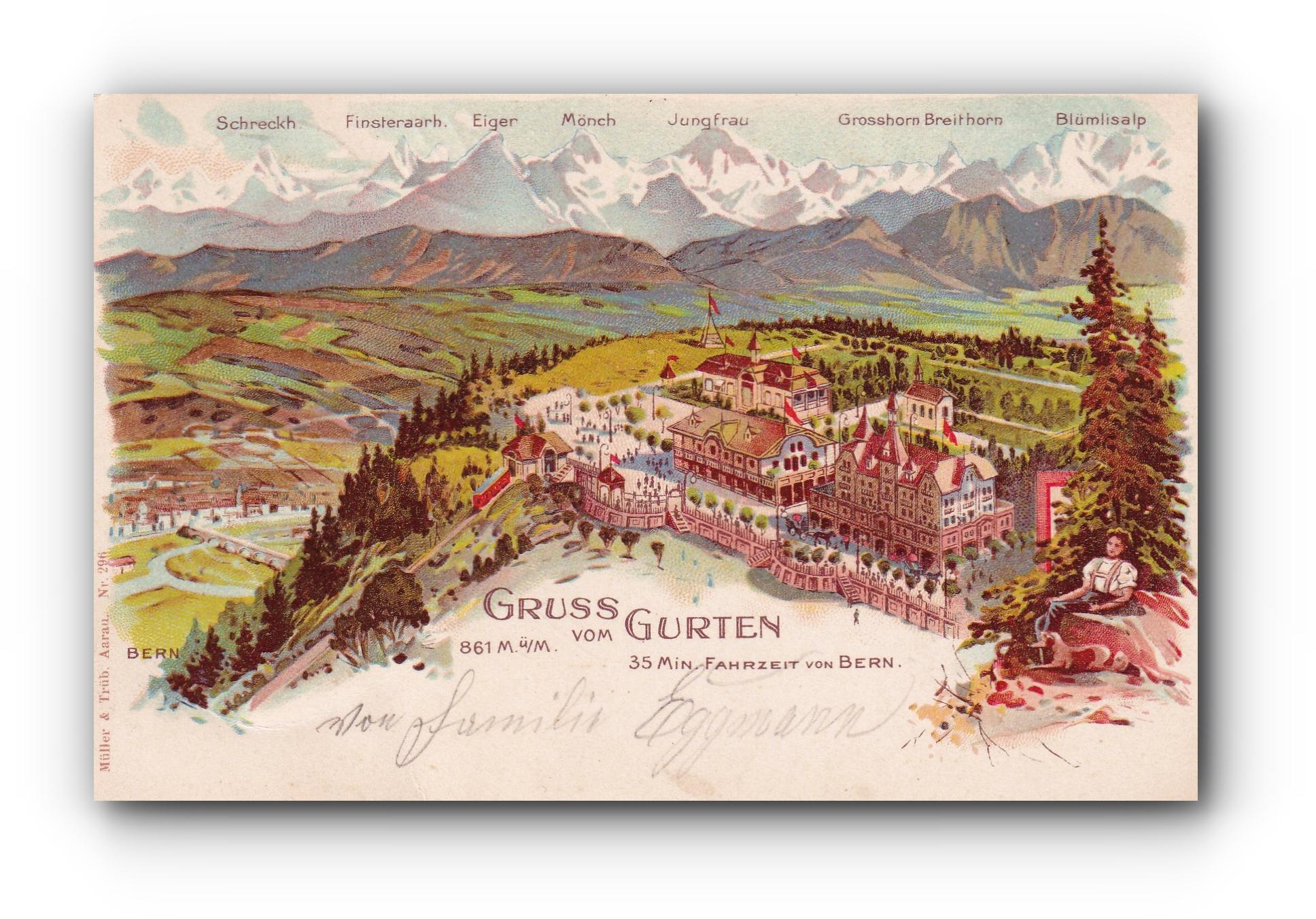 Gruss vom Gurten - 10.09.1900 - Salutations depuis le Gurten - Greetings from the Gurten