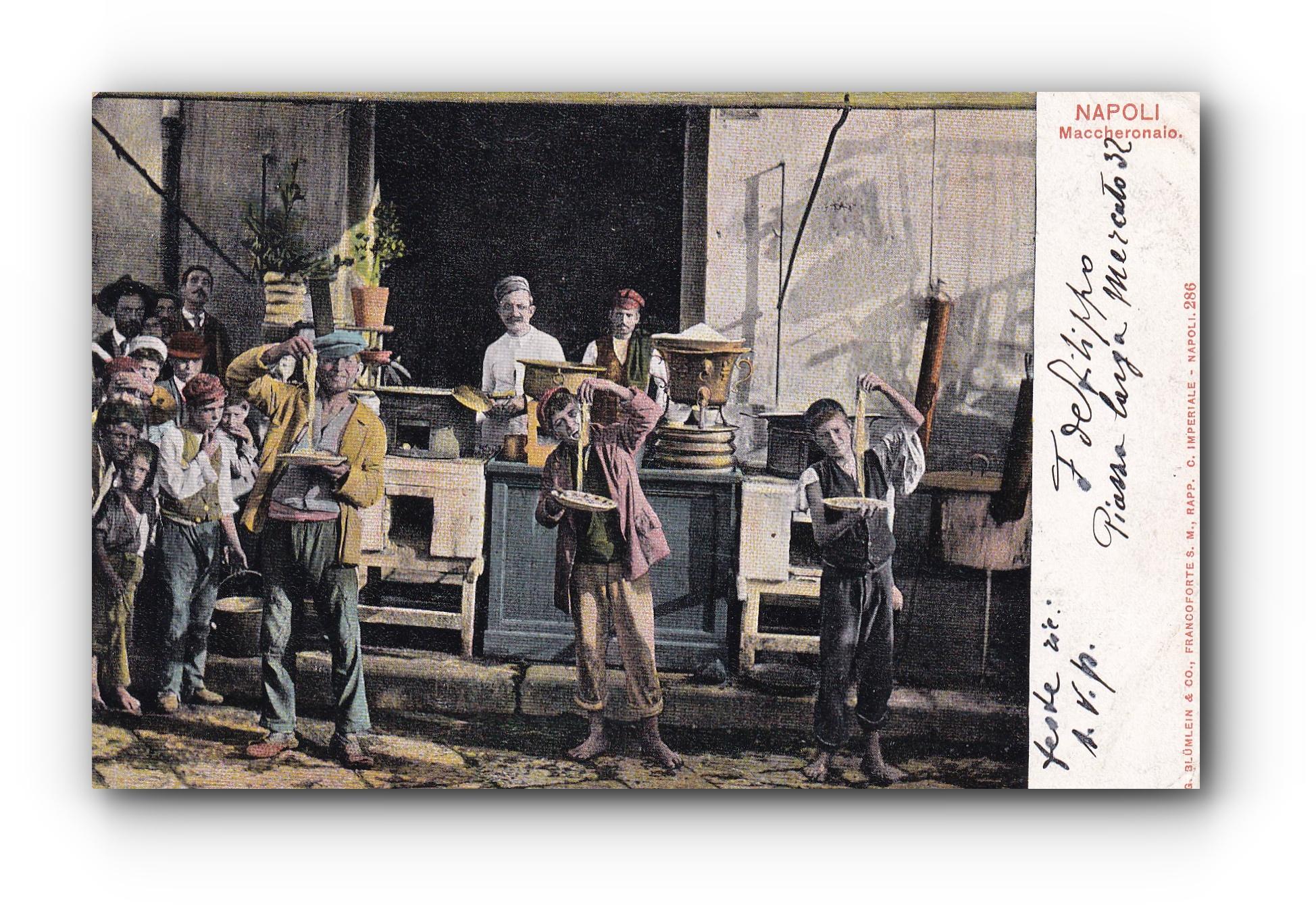 NAPOLI - 18.06.1903 - Die Spaghetti Esser - Les mangeurs de spaghettis - The Spaghetti Eaters
