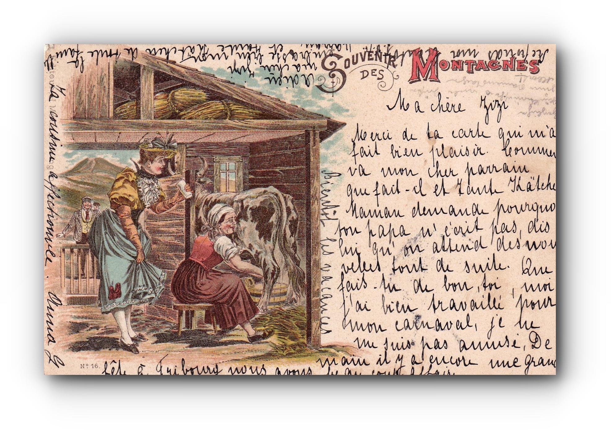 Souvenir des montagnes - 06.03.1899 - Erinnerung an die Berge - Souvenir of the mountains