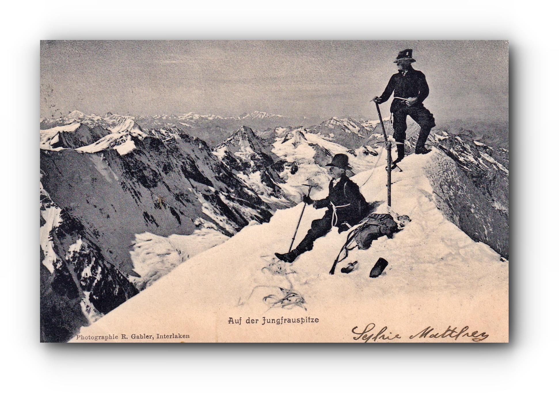 Auf der Jungfrauspitze - 28.07.1905 - Au sommet de la Jungfrau - On the Jungfrau Peak