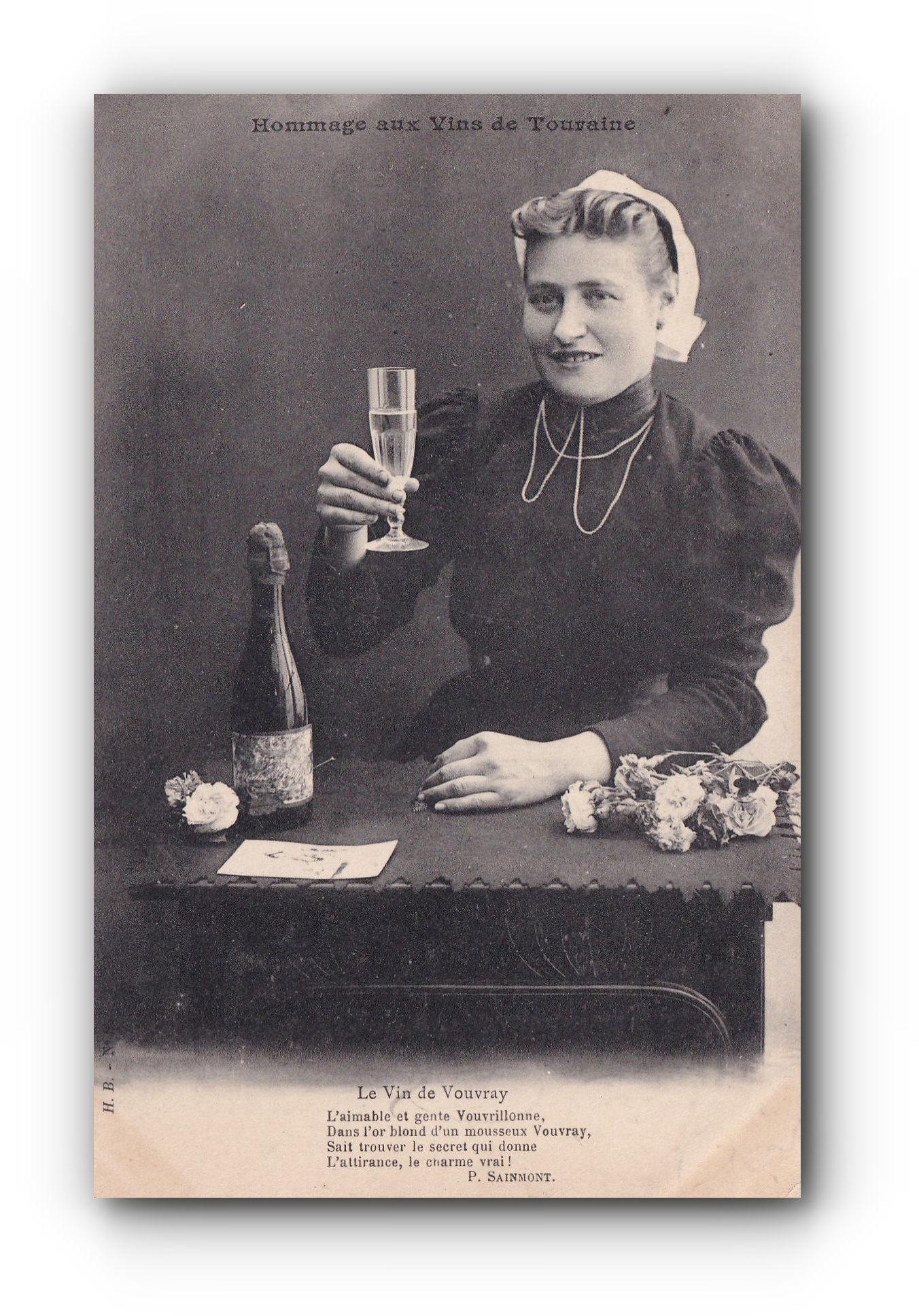 Hommage an die Weine der Touraine -  09.10.1907 - Hommage aux vins de Touraine - A tribute to Touraine wines